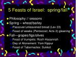 5 feasts of israel spring fall