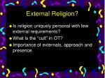 external religion