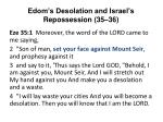 edom s desolation and israel s repossession 35 36