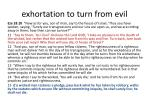 exhortation to turn from evil
