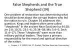 false shepherds and the true shepherd 34