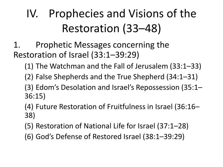iv prophecies and visions of the restoration 33 48 n.
