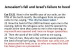 jerusalem s fall and israel s failure to heed