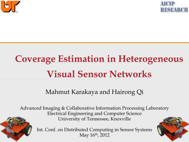 coverage estimation in heterogeneous visual sensor networks n.