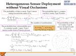 heterogeneous sensor deployment without visual occlusions