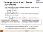 heterogeneous visual sensor deployment