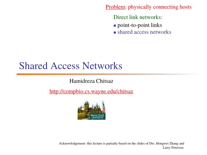 shared access networks n.