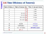 3 6 time efficiency of towers