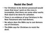 resist the devil