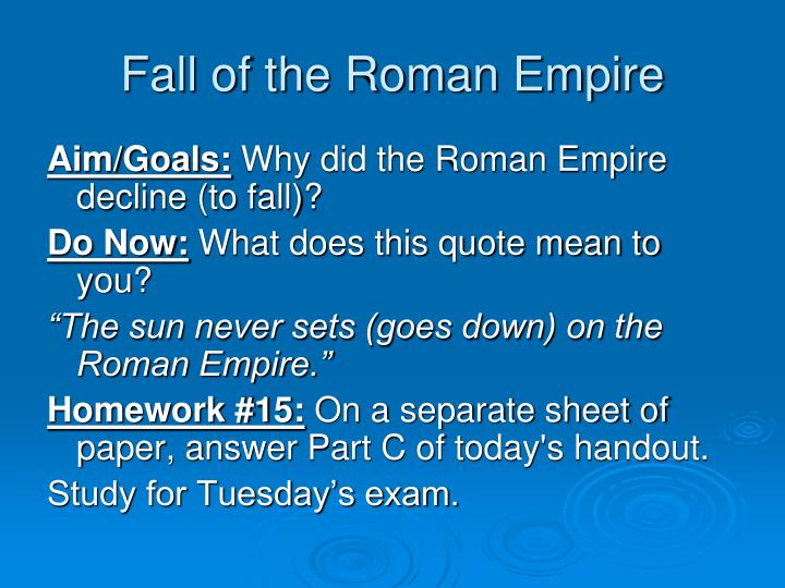 fall of the roman empire n.