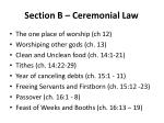 section b ceremonial law