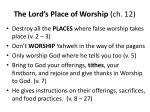 the lord s place of worship ch 12