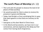 the lord s place of worship ch 121