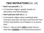 two instructions ch 14