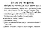 back to the philippines philippine american war 1899 1902