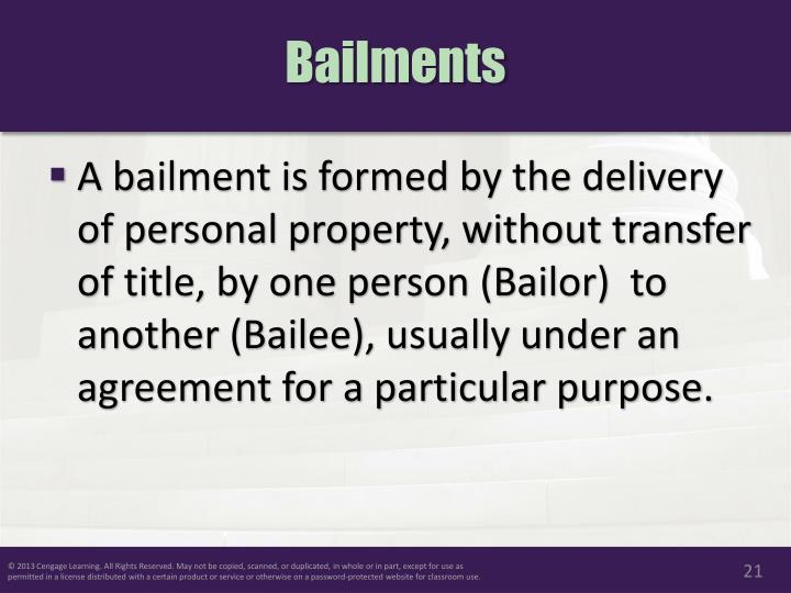 Ppt Chapter 27 Personal Property And Bailments Powerpoint