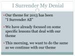 i surrender my denial1