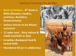 joshua crossing the jordan