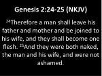 genesis 2 24 25 nkjv