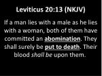 leviticus 20 13 nkjv
