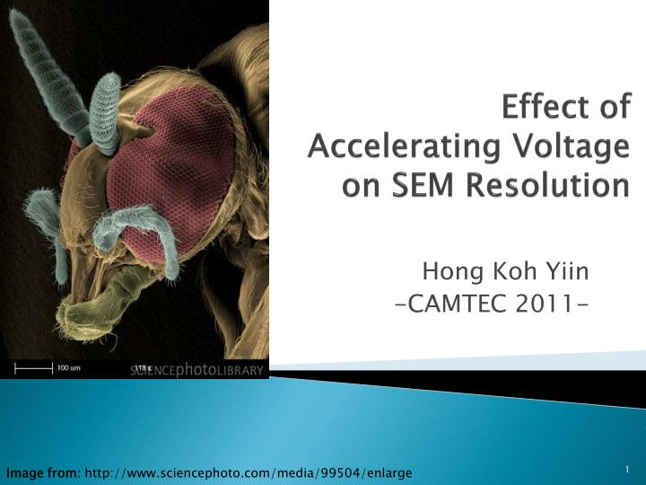 effect of accelerating voltage on sem resolution n.