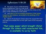 ephesians 1 18 20