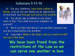 galatians 5 13 16