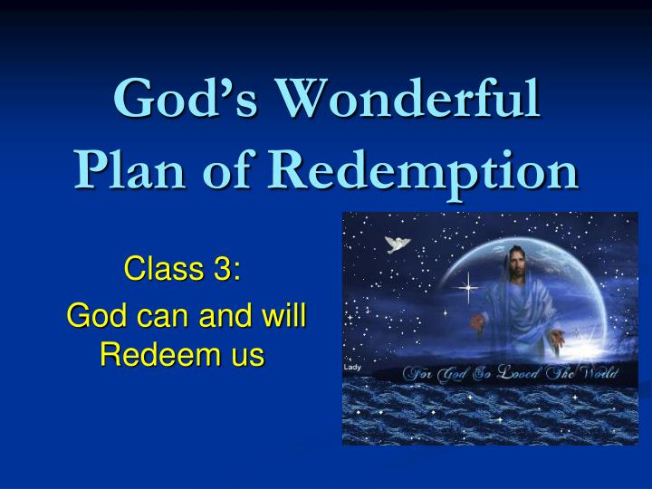 god s wonderful plan of redemption n.