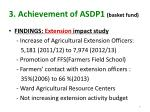 3 achievement of asdp1 basket fund1