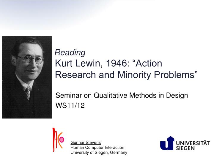 reading kurt lewin 1946 action research and minority problems n.