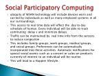 social participatory computing