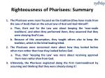 righteousness of pharisees summary
