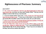 righteousness of pharisees summary1