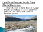 landform features made from glacial movement1