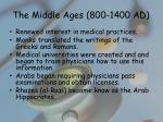 the middle ages 800 1400 ad