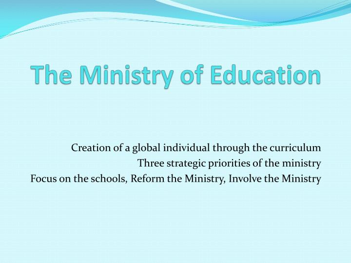 the ministry of education n.