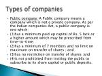 types of companies1