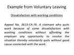 example from voluntary leaving
