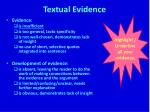 textual evidence1