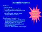 textual evidence5