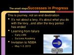 the small steps successes in progress