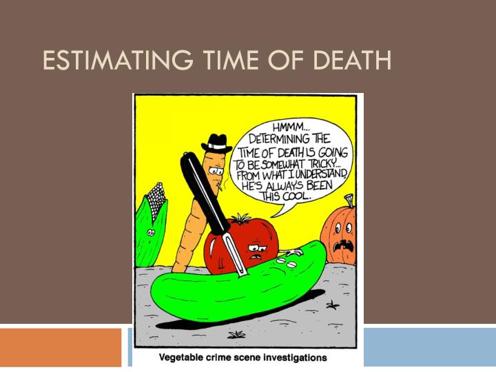 estimating time of death n.