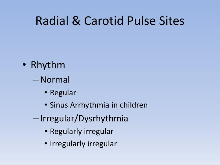 Radial & Carotid Pulse Sites
