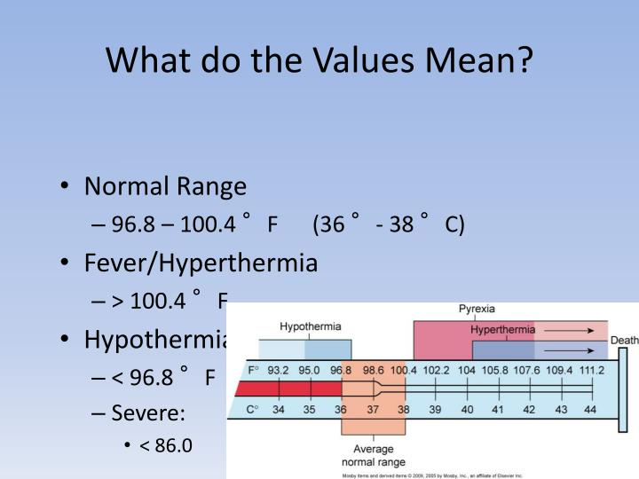 What do the Values Mean?