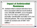 impact of antimicrobial resistance