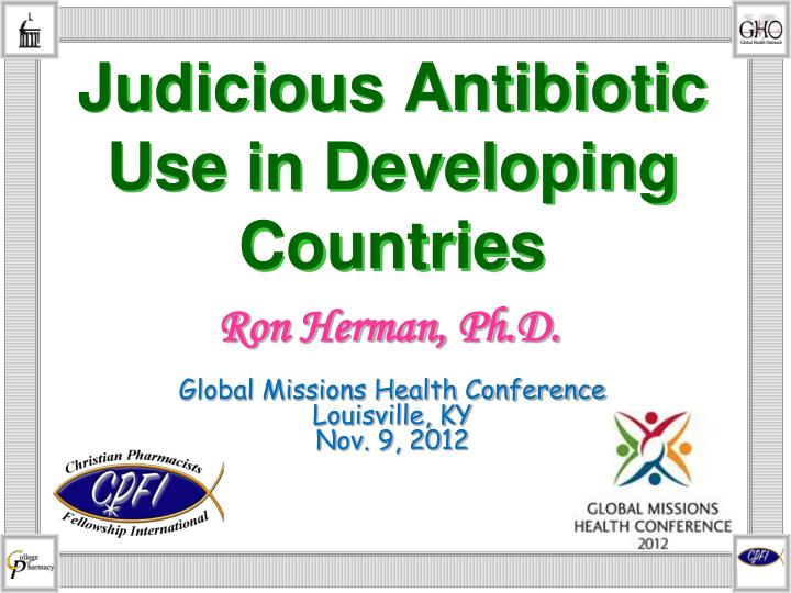 judicious antibiotic use in developing countries n.