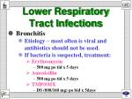 lower respiratory tract infections1