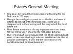 estates general meeting