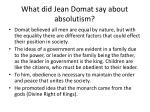 what did jean domat say about absolutism