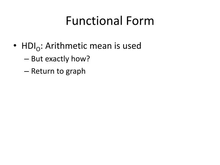 Functional Form